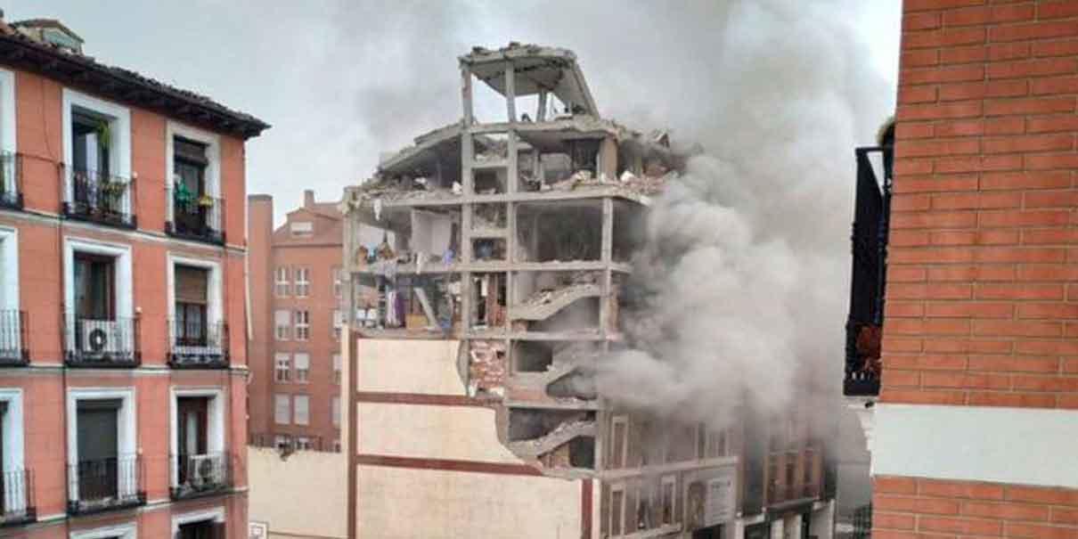 Al menos dos muertos tras una fuerte explosión en un edificio del centro de Madrid