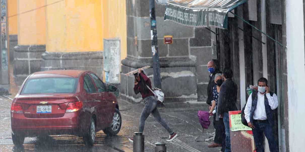 Tras el paso del frente frío 39 se prevén lluvias muy fuertes en Puebla