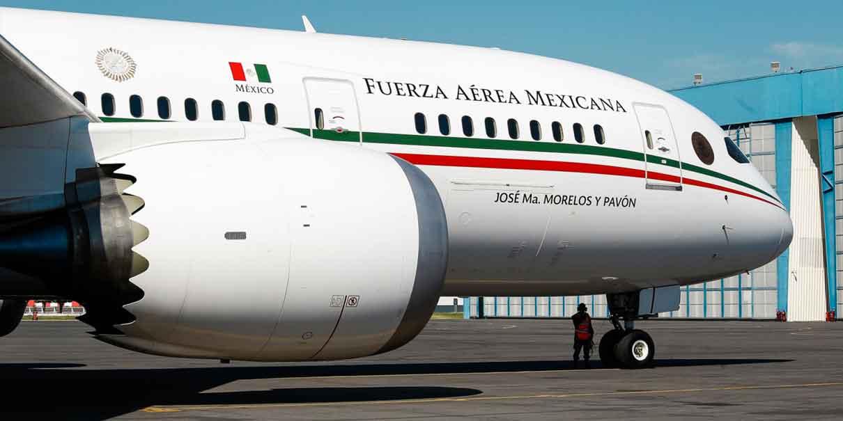 Incluyen avión presidencial en subasta de aeronaves
