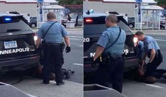 Policías en Minneapolis someten a un hombre negro