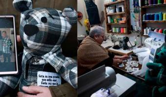 Señora hace peluches con pertenencias de fallecidos