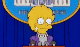 ¡LO SIGUEN HACIENDO! Fanáticos comparan a Kamala Harris con Lisa Simpson
