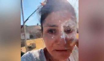 Diputada es atacada con harina y tierra, la llaman #LadyMontajes