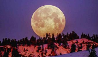 FABULOSO. La Luna de Nieve se apreció en todo el mundo